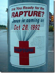 rapture predicted 1992